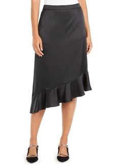 Alfani Asymmetrical Ruffle-Hem Skirt, Created For Macy's