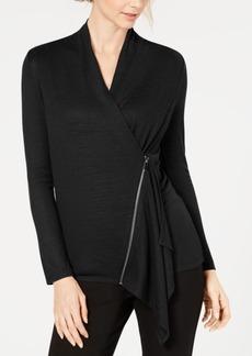Alfani Asymmetrical Zip Top, Created for Macy's