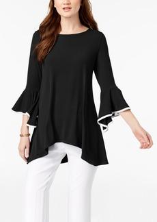 Alfani Bell-Sleeve Handkerchief-Hem Top, Created for Macy's