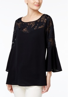 Alfani Bell-Sleeve Illusion Top, Only at Macy's