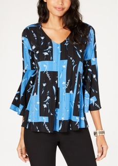 Alfani Petite Bell-Sleeve Top, Created for Macy's