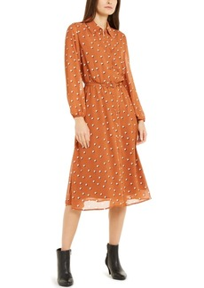 Alfani Belted A-Line Midi Dress, Created For Macy's
