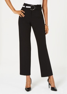 Alfani Belted Paper-Bag Pants, Created for Macy's