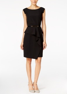 Alfani Belted Peplum Sheath Dress, Only at Macy's
