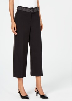 Alfani Petite Wide-Leg Capri Pants, Created for Macy's