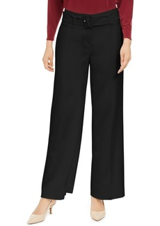 Alfani Belted Wide-Leg Pants, Created for Macy's