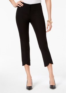 Alfani Bi-Stretch Hollywood Tulip-Hem Ankle Pants, Created for Macy's