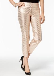 Alfani Bi-Stretch Wide Waist-Band Pants, Created for Macy's