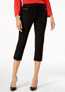 Alfani Bi-Stretch Zip-Detail Capri Pants, Created for Macy's