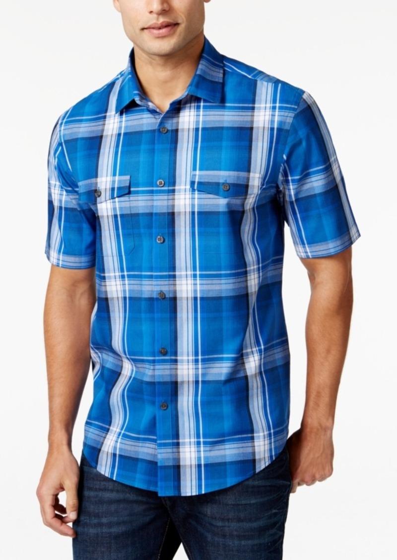 Alfani Big and Tall Plaid Short-Sleeve Shirt