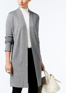 Alfani Birdseye Jacquard Sweater Coat, Only at Macy's
