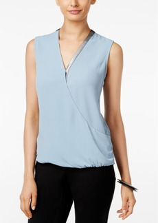 Alfani Blouson Surplice Top, Only at Macy's