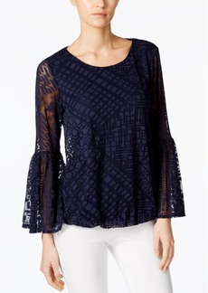 Alfani Burnout Blouson Top, Only at Macy's