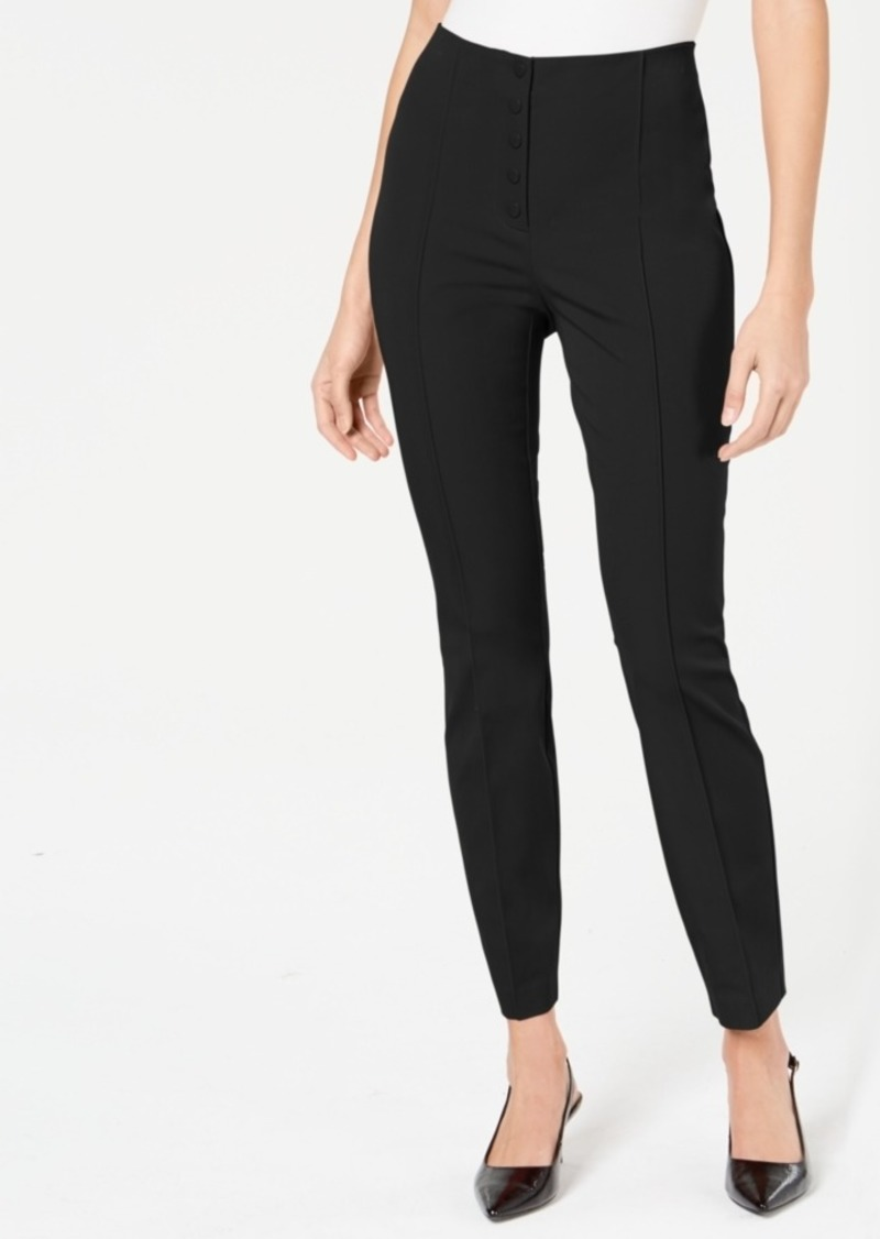 Alfani Button-Fly Skinny Pants, Created for Macy's