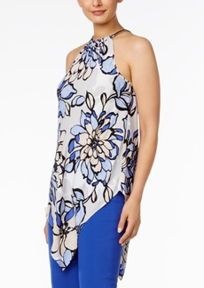 Alfani Petite Printed Chain-Neck Halter Top, Created for Macy's