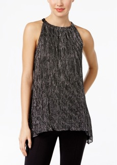 Alfani Chain-Neck Metallic Top, Only at Macy's