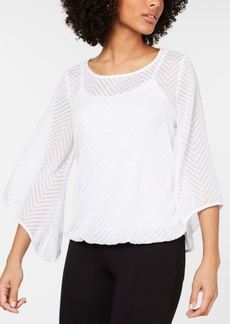 Alfani Chevron Bubble-Hem Top, Created for Macy's