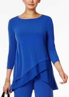 Alfani Chiffon Crossover-Hem Top, Only at Macy's