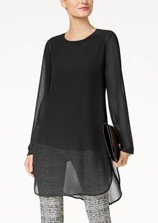 Alfani Chiffon High-Low Tunic, Created for Macy's