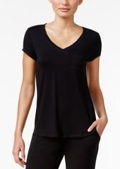 Alfani Chiffon-Trimmed Knit Pajama Top, Created for Macy's