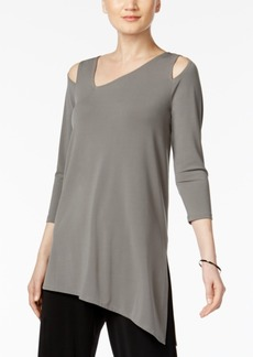 Alfani Cold-Shoulder Asymmetrical Top, Only at Macy's