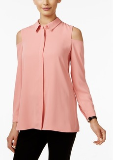 Alfani Cold-Shoulder Blouse, Only at Macy's