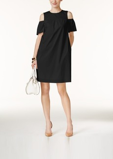 Alfani Cold-Shoulder Shift Dress, Only at Macy's