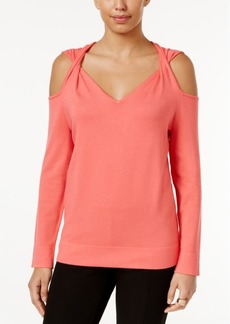 Alfani Cold-Shoulder Twist Sweater, Created for Macy's