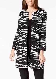 Alfani Collarless Textured Jacket, Created for Macy's