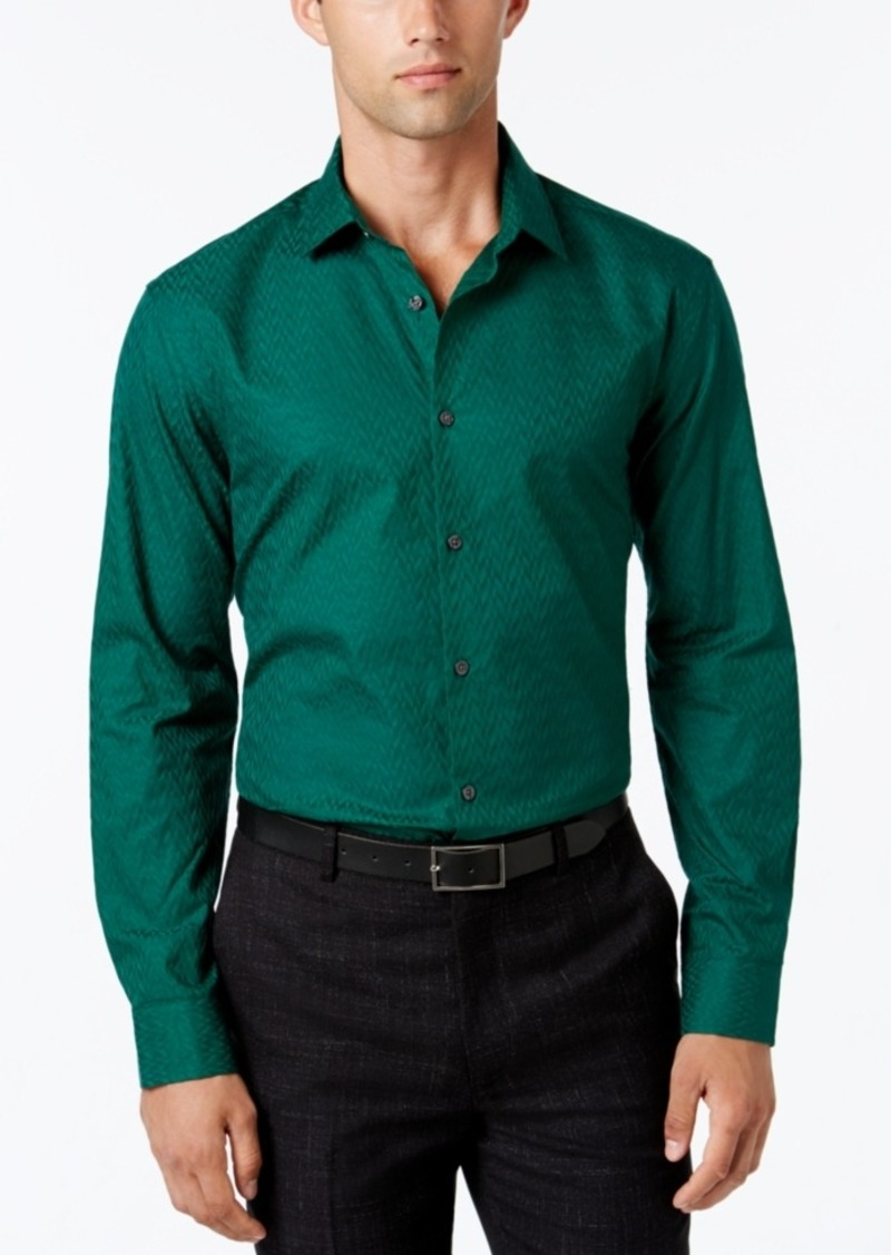 Alfani Collection Men's Textured Long-Sleeve Shirt, Classic Fit, Only at Macy's