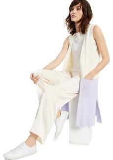 Alfani Colorblock Open-Front Sleeveless Cardigan, Created for Macy's
