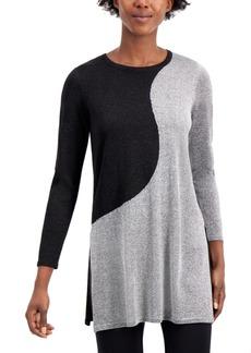 Alfani Colorblock Tunic Sweater, Created for Macy's