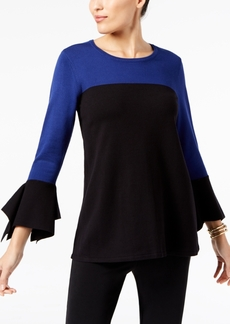 Alfani Colorblocked Bell-Sleeve Sweater, Created for Macy's
