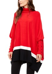 Alfani Colorblocked Poncho Sweater, Created For Macy's