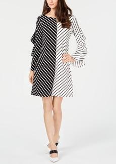 Alfani Colorblocked Ruffle-Sleeve Dress, Created for Macy's