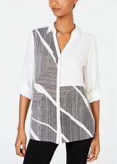 Alfani Colorblocked Shirt, Created for Macy's