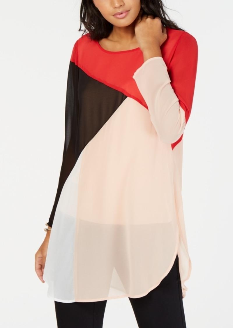 Alfani Colorblocked Super Tunic, Created for Macy's