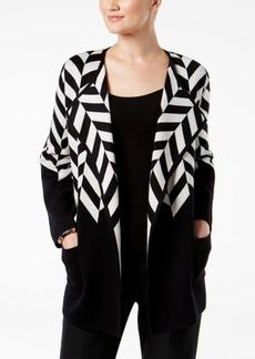Alfani Colorblocked Sweater Coat, Created for Macy's