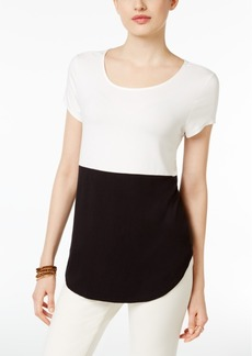 Alfani Petite Colorblocked Top, Created for Macy's