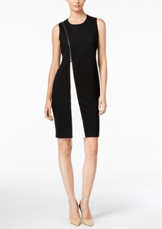 Alfani Colorblocked Zipper Sheath Dress, Only at Macy's
