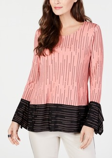 Alfani Contrast-Stripe Top, Created for Macy's