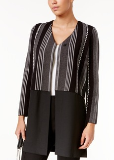 Alfani Contrast Sweater Coat, Only at Macy's