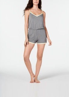 Alfani Ultra Soft Contrast-Trim Pajama Romper, Created for Macy's