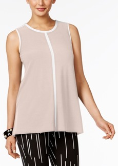 Alfani Petite Contrast-Trim Top, Created for Macy's