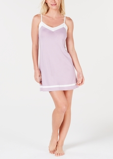 Alfani Pima Cotton Constrasting Tim Nightgown, Created for Macy's
