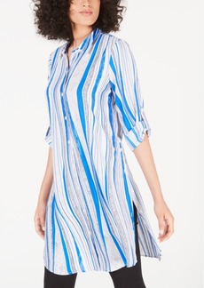 Alfani Convertible Striped Tunic, Created for Macy's
