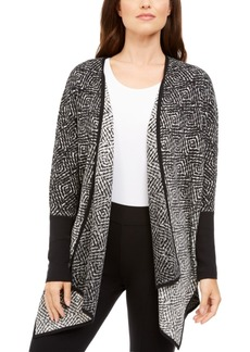 Alfani Cotton Ombre Poncho Cardigan, Created For Macy's