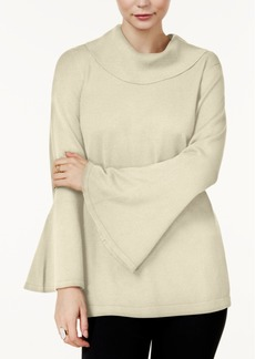 Alfani Cowl-Neck Bell-Sleeve Sweater, Created for Macy's