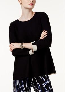 Alfani Crew-Neck Swing Sweater, Created for Macy's