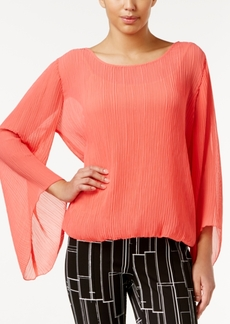 Alfani Crinkle Blouson Top, Only at Macy's